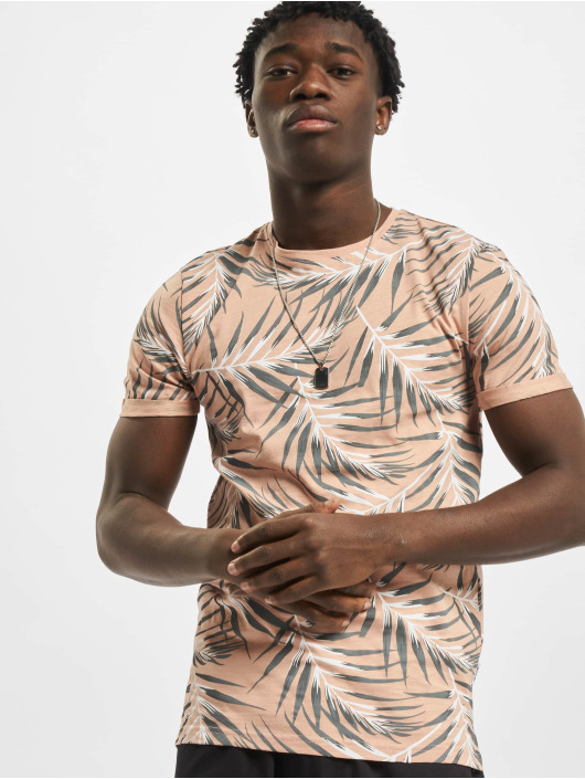 Only & Sons T-Shirty onsIason Slim Aop Noos rózowy