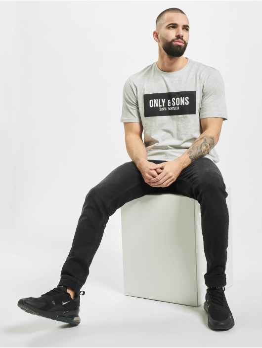 Only & Sons T-Shirty onsNormie szary