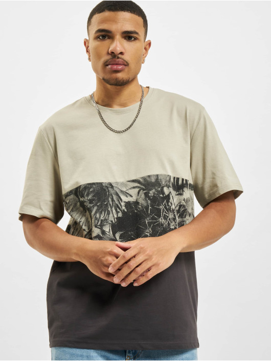 Only & Sons T-Shirty Ons Teddy Block Life REG NF 0261 szary