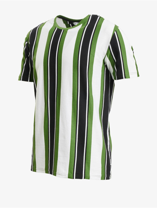 Only & Sons T-Shirty onsRis Stripe zielony