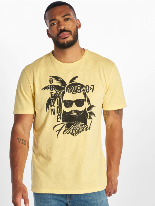 Only & Sons T-Shirty onsPromto Regular zólty