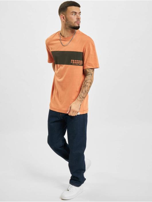 Only & Sons T-skjorter Ons True Life REG EQ 9652 oransje