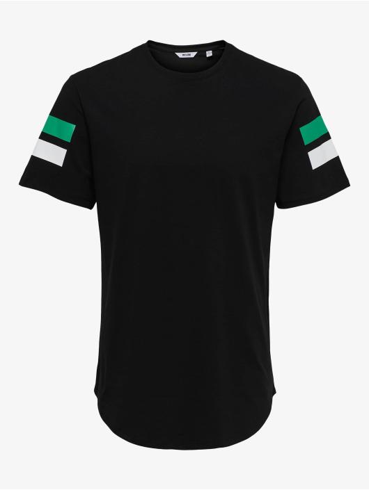 Only & Sons T-skjorter onsStripey Longy svart