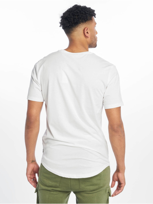 Only & Sons Tall Tees onsEmbroidery Longy biela