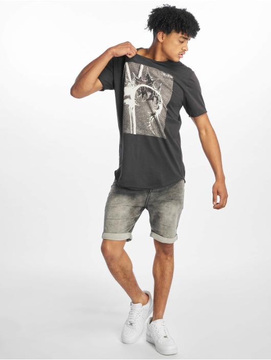 Only & Sons Tall Tees onsMatt Longy Raw Edge Tall grå
