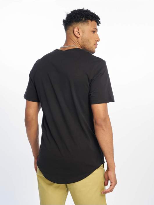 Only & Sons Tall Tees nsEmbroidery Longy svart