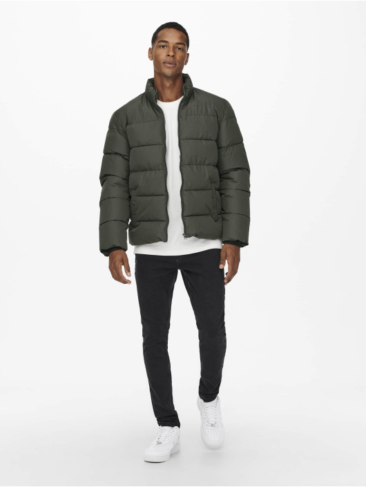 Only & Sons Winter Jacket Onsmelvin green