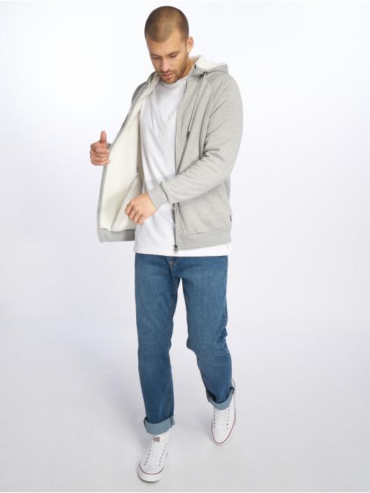 Only & Sons Zip Hoodie onsToby Teddy Regular grå