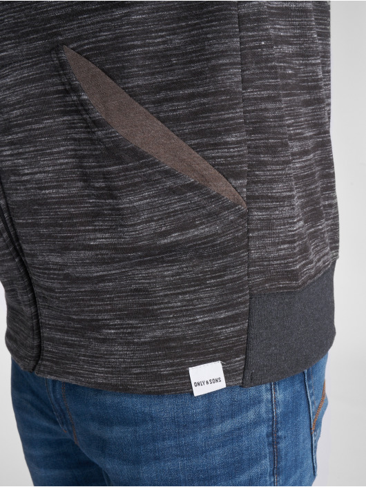 Only & Sons Zip Hoodie onsVinn 2.0 grå