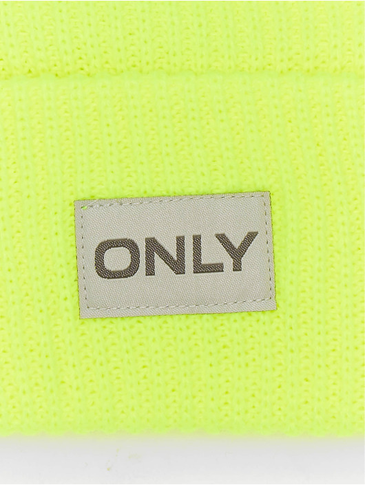 Only Beanie onlPetunia Neon Ribbed gelb