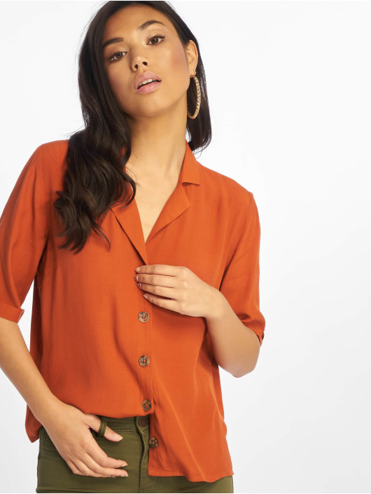 Only Blouse/Tunic onlVega 2/4 Button brown