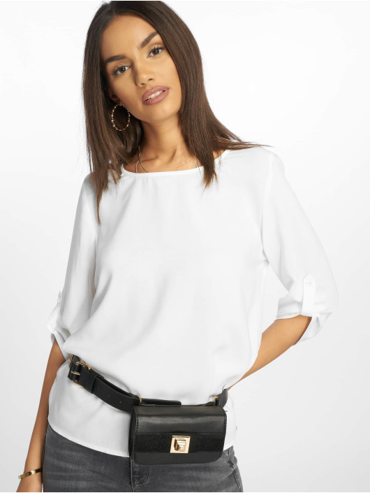 Only Blouse/Tunic onlNine 3/4 Fold Up white