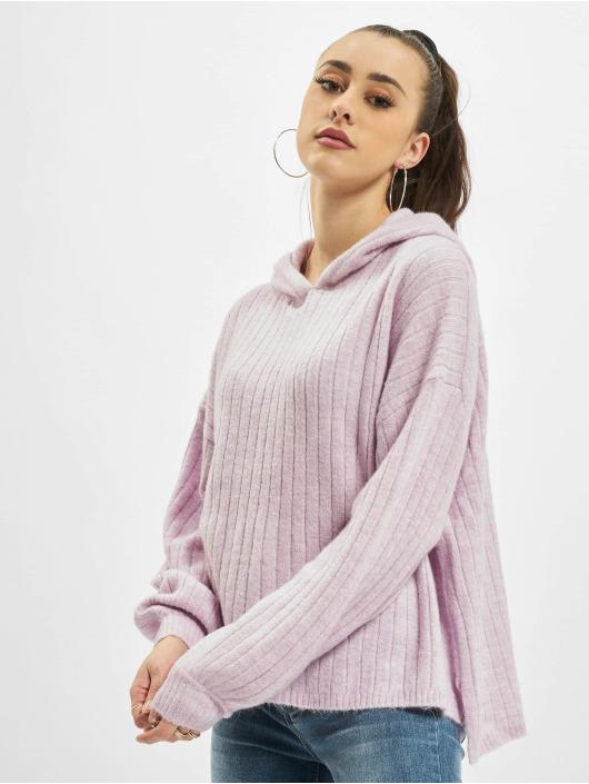 Only Bluzy z kapturem onlCorinne Loose Knit fioletowy