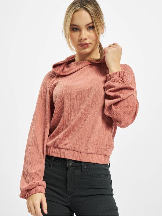 Only Bluzy z kapturem onlIvona Structured rózowy
