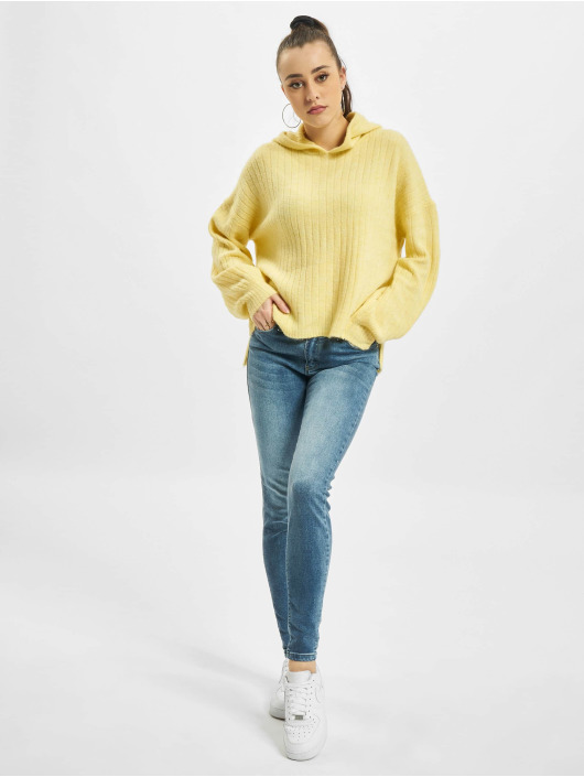 Only Bluzy z kapturem onlCorinne Loose Knit zólty