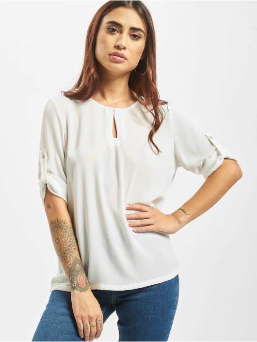 Only Camicia/Blusa onlFagnes Life 3/4 Woven bianco