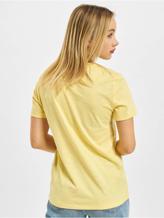 Only Camiseta Onlsmiley Life REG JRS amarillo