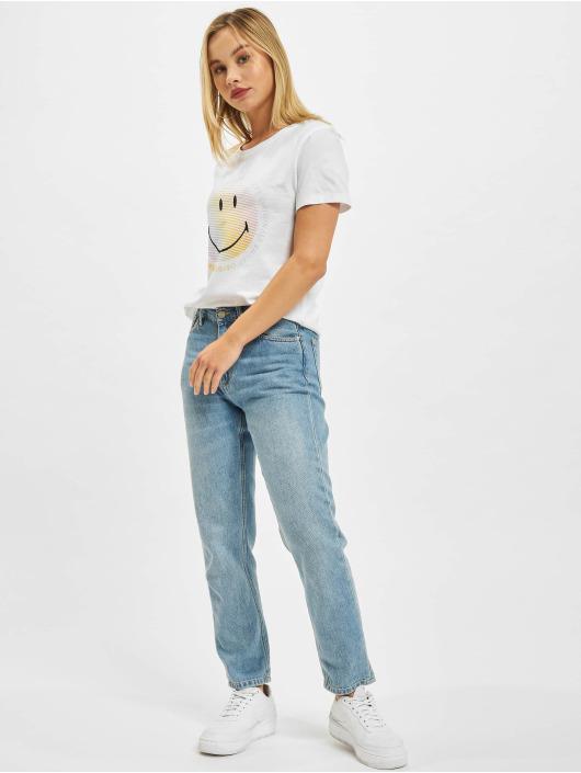 Only Camiseta Onlsmiley Life REG JRS blanco