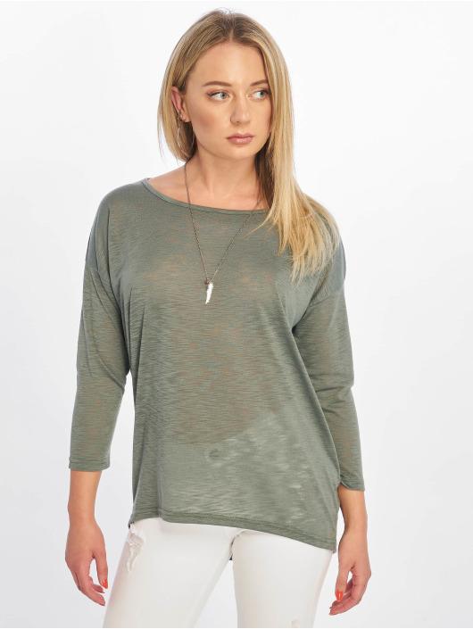 Only Camiseta de manga larga onlCasa Solid Slub 4/5 verde
