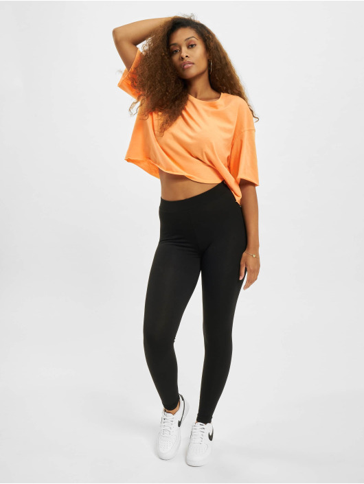 Only Camiseta Onlearth Life JRS Short naranja