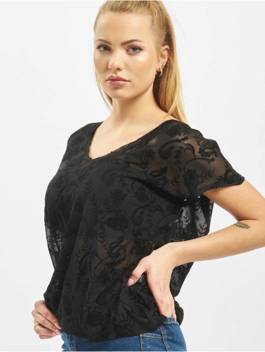 Only Camiseta Flock Details negro