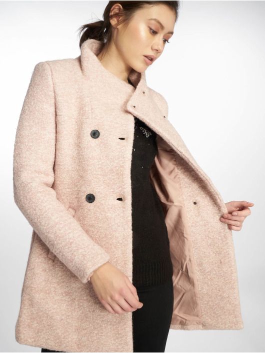 Only Cappotto onlSophia Boulce Wool rosa chiaro