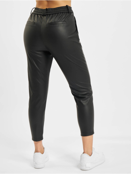 Only Chino onlPoptrash Faux Leather schwarz