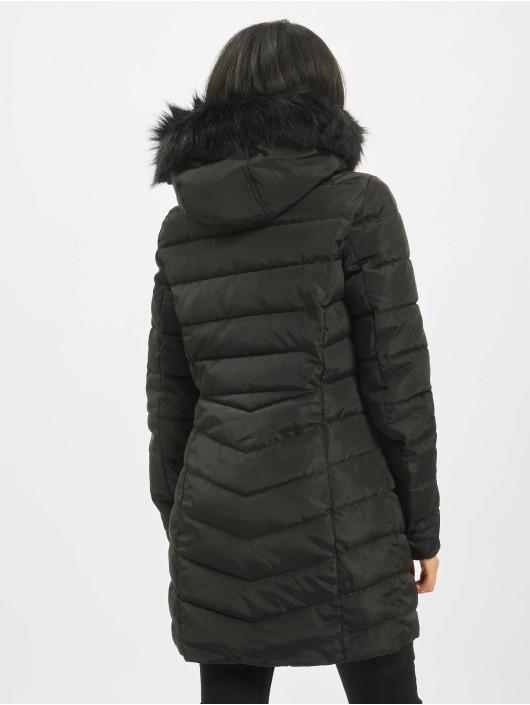 Only Coats onlEllan Quilted Hood Fur black