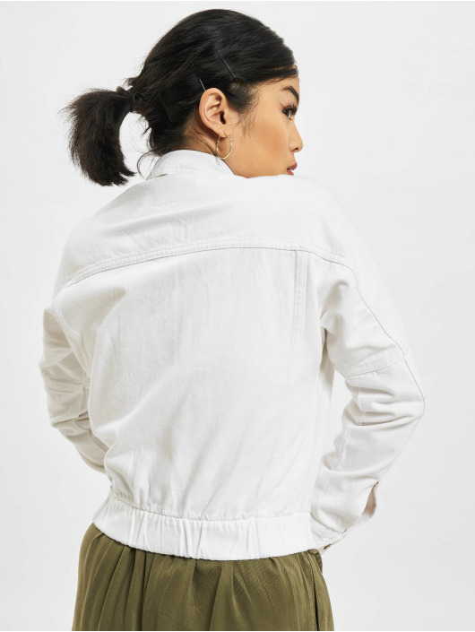 Only Denim Jacket Rave Life white