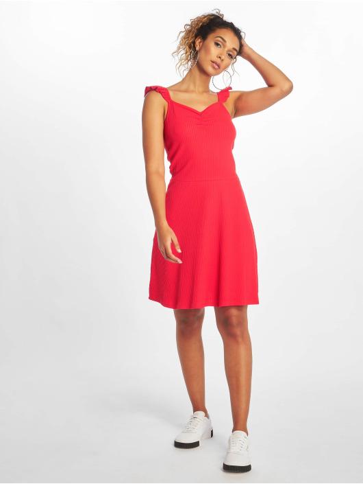 Only Dress onlTine Rib red