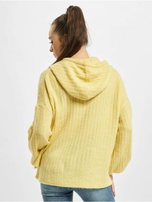 Only Felpa con cappuccio onlCorinne Loose Knit giallo