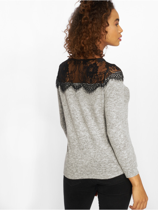 Only Gensre onlIdaho Lace Knit grå