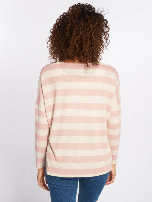 Only Gensre onlMaye LS Stripe V-Neck rosa