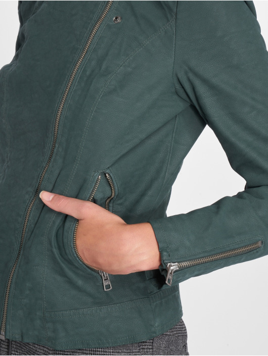 Only Giacca in pelle onlSaga Faux Leather verde