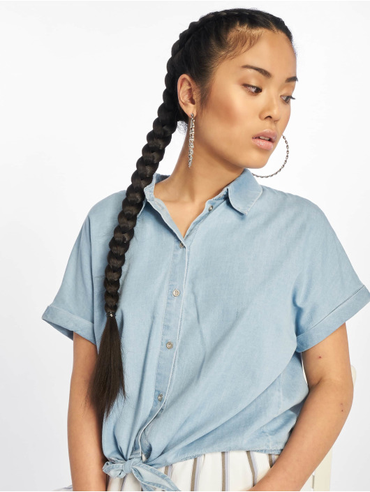 Only Hemd onlMilen Knot Denim blau