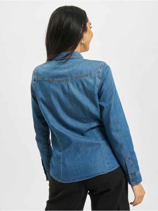 Only Hemd onlRockit Life Denim blau