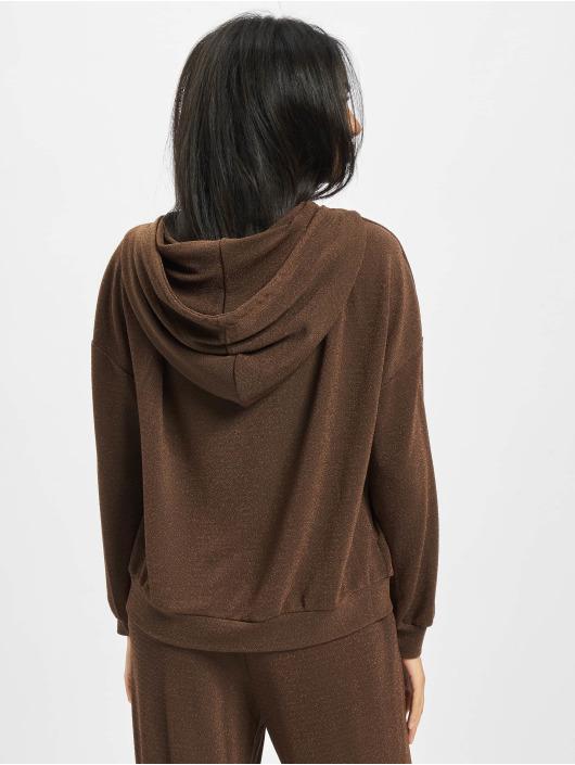 Only Hoodies Onlvera Glitter brun