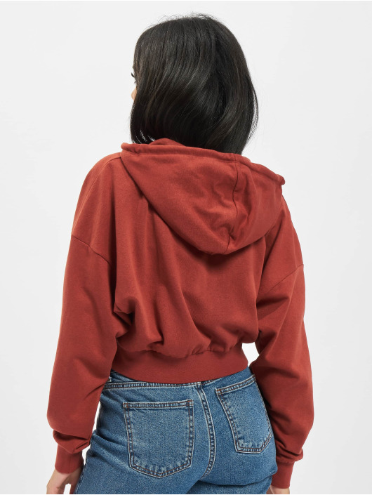 Only Hoodies con zip Onlbless rosso