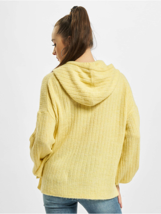 Only Hoody onlCorinne Loose Knit gelb