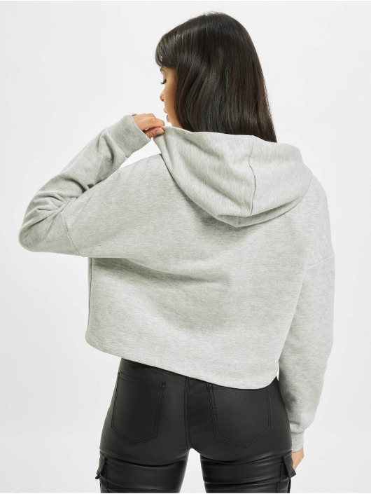 Only Hoody onyFave Life Cropped grau