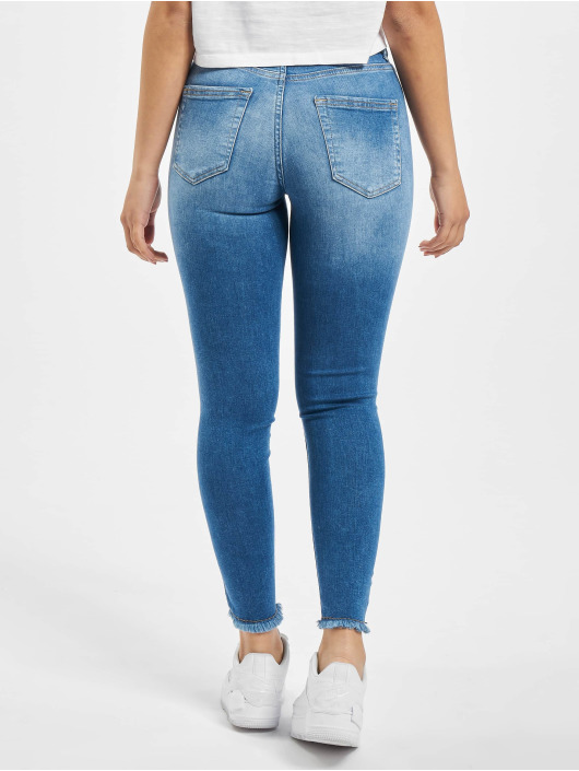 Only Jean skinny onlBlush Life Mid Ankle Raw Noos bleu