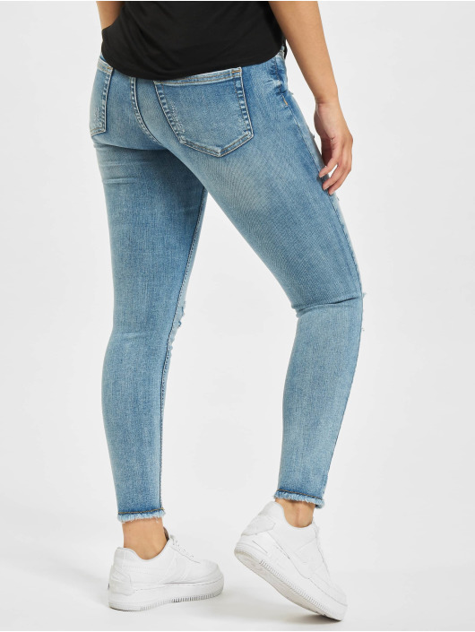 Only Jean skinny onlBlush Life Mid Raw Ankle Dest REA213 bleu