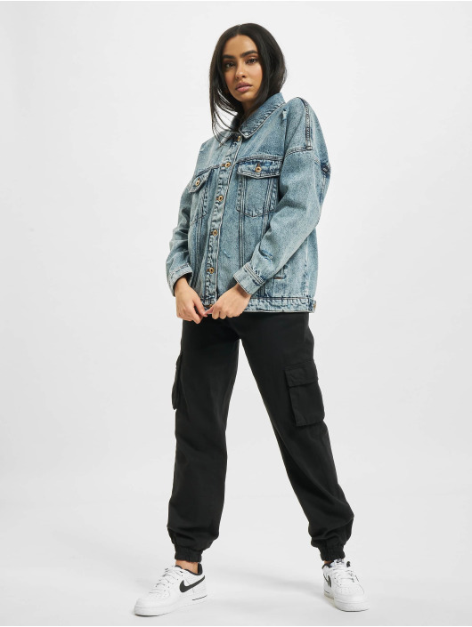 Only Jeansjacken onlSafe Life Oversized blau