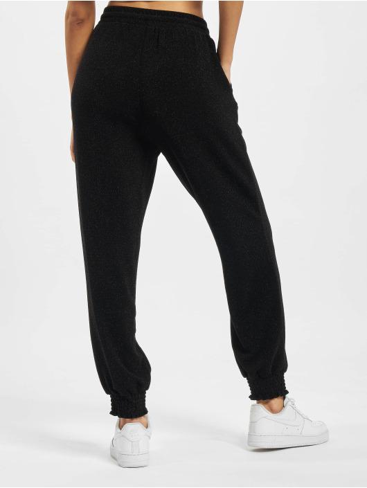 Only Jogging kalhoty Onlvera Glitter čern