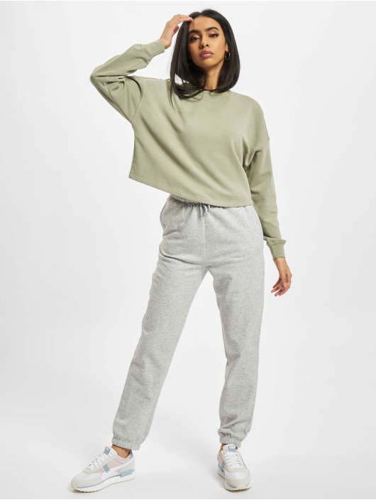 Only Jogging kalhoty Onlbless Paperbag šedá