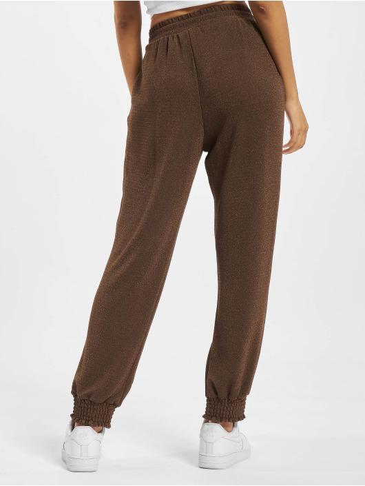 Only Jogging kalhoty Glitter hnědý