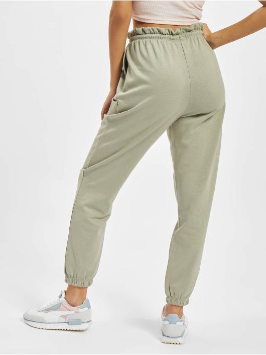Only Jogging kalhoty Onlbless Paperbag zelený