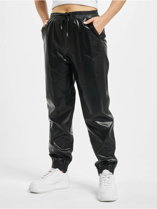 Only Jogginghose onlMady-Callee Mw Faux Leather schwarz