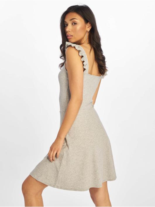 Only jurk onlTine Rib Ballerina grijs