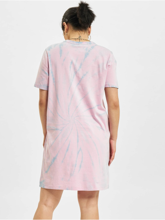 Only jurk Onlsmiley Life Tie Dye JRS pink